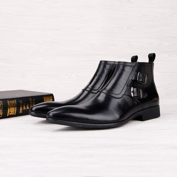 Giày boots nam công sở khóa kéo đẹp - M401