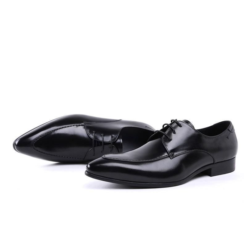 Giày buộc dây nam màu đen đẹp