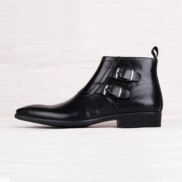 Giày cao cổ nam khóa kéo cao cấp M401