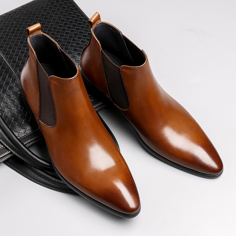 Giày chelsea boots nam da cao cấp xuất khẩu M404
