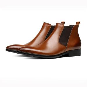 Giày chelsea boots nam da bò mũi nhọn M404