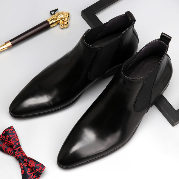 Giày chelsea boots nam da bò thật M404