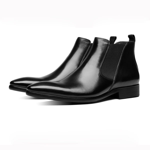 Giày công sở nam cao cổ chelsea boots M404
