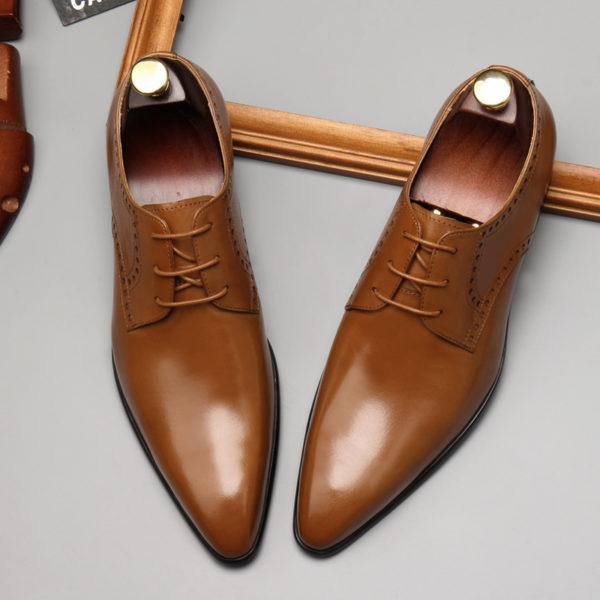 Giày da nam công sở mũi nhọn đẹp