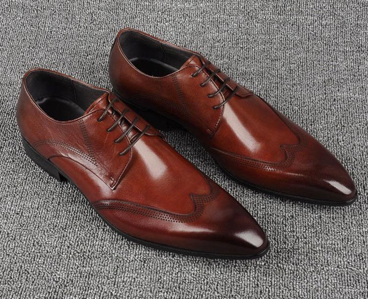 giày tây nam đẹp màu nâu