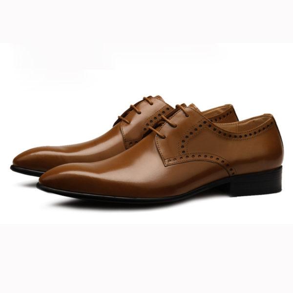 Giày nam công sở đánh màu thủ công