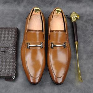 Giày nam công sở màu vàng bò đẹp