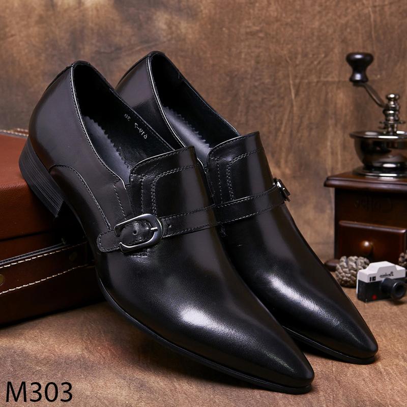 Giày lười nam công sở da bò đẹp trẻ trung