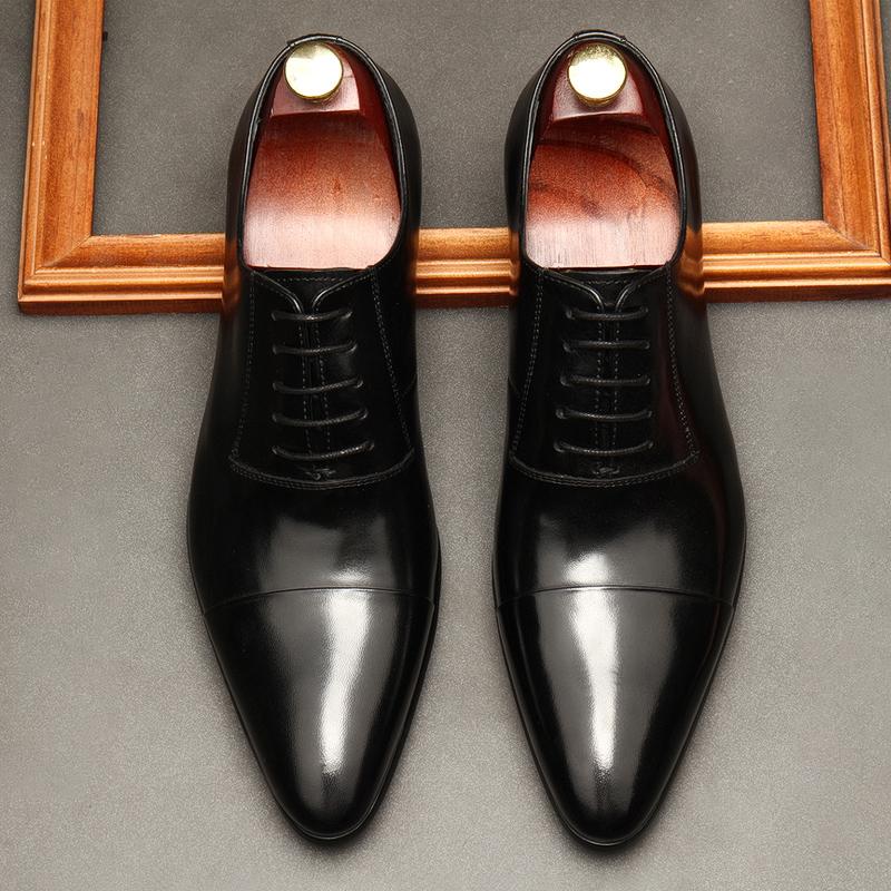 Giày tây nam buộc dây mũi nhọn