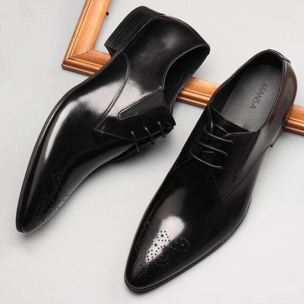 Giày tây công sở giả buộc dây