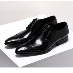 Giày tây nam da bò màu đục lỗ đẹp M163