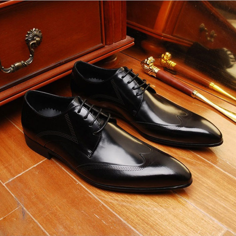 giày tây nam derby cao cấp M157
