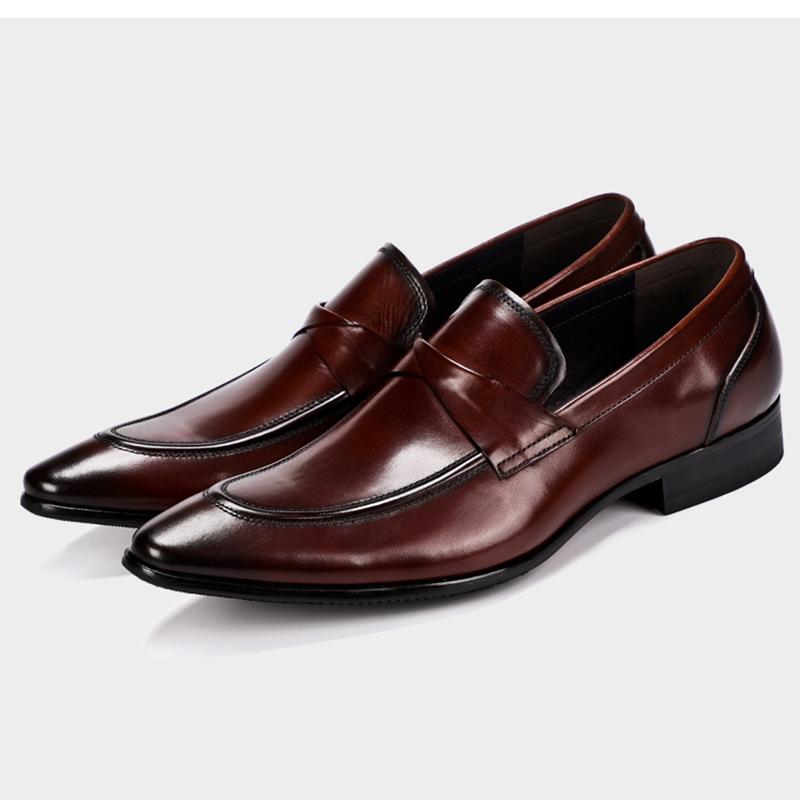Giày tây nam không dây màu nâu