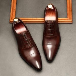 giày da nam công sở buộc dây M160