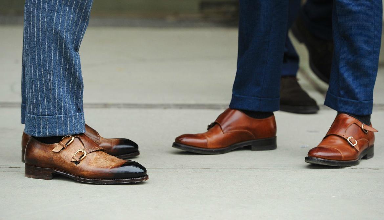 giày nam công sở cho nam giới Monk strap