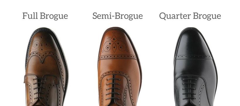 Các kiểu giày da nam Brogue