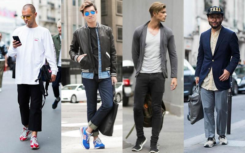 Quần jean kết hợp giày thể thao