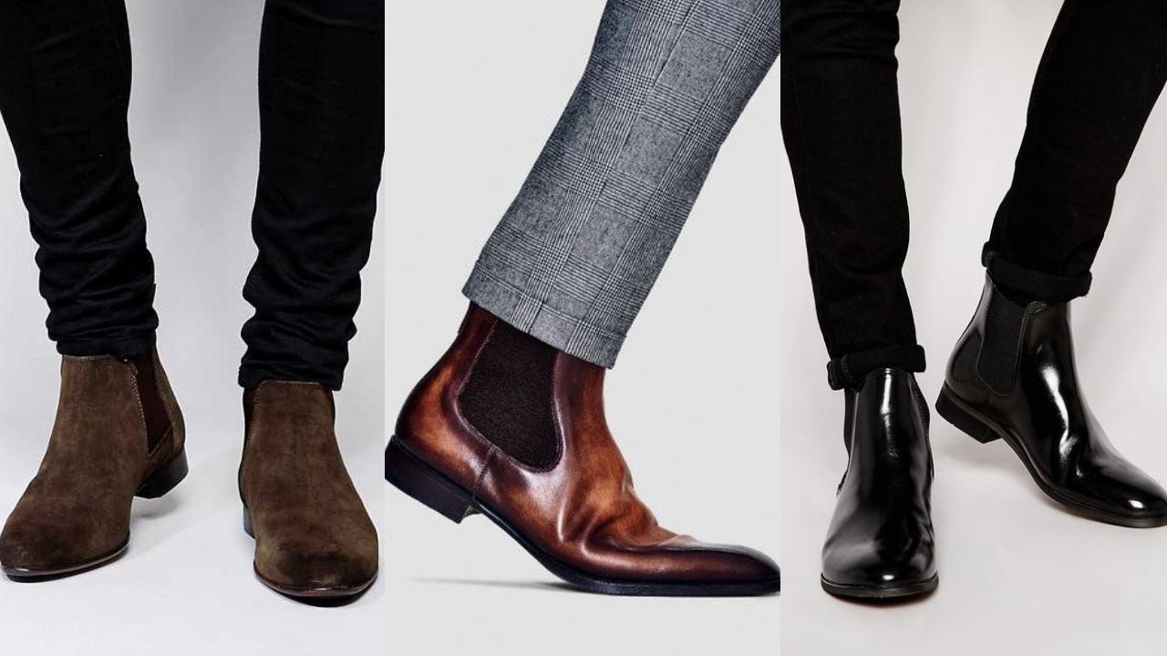 giày nam cao cổ da bò thật