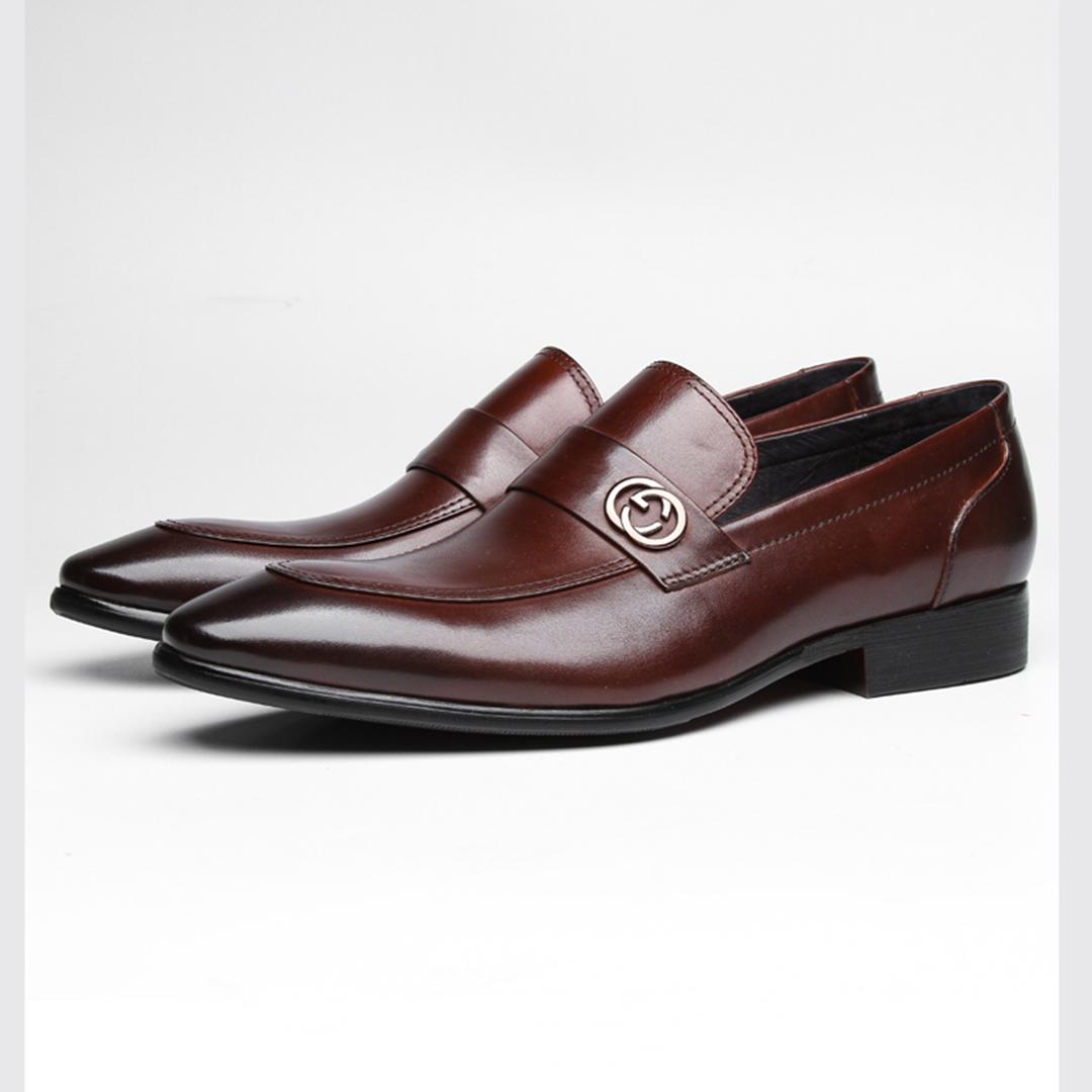 giày lười nam da bò mũi nhọn đẹp