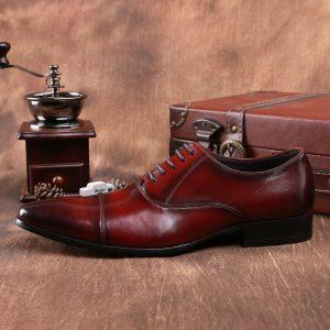giày thủ công đánh màu patina đẹp