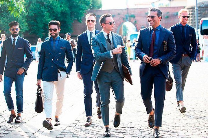 giày tây nam đẹp cho vest màu xanh