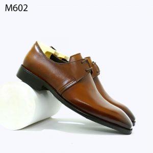 giày tây nam màu vàng bò